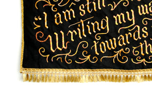 *RAFFLE* Hand-Embroidered Banner: Roxane Gay