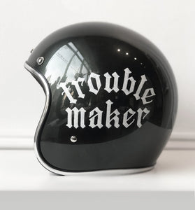 """TROUBLE MAKER"" *LARGE* HAND-PAINTED BILTWELL BONANZA SIERRA GREEN HELMET"