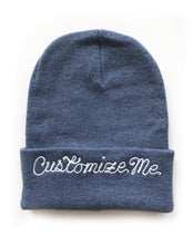 Load image into Gallery viewer, CUSTOMIZABLE KNIT BEANIE