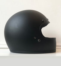 "Load image into Gallery viewer, ""HELL YES"" HAND-PAINTED *X-SMALL* BILTWELL GRINGO FLAT BLACK HELMET"