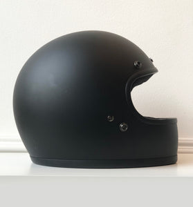 """HELL YES"" HAND-PAINTED *X-SMALL* BILTWELL GRINGO FLAT BLACK HELMET"