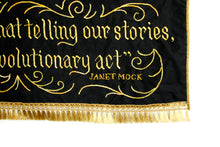 Load image into Gallery viewer, *RAFFLE* Hand-Embroidered Banner: Janet Mock