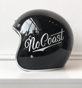"""NO COAST"" HAND-PAINTED *SMALL* BILTWELL BONANZA BLACK HELMET"
