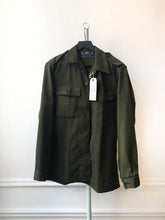 "Load image into Gallery viewer, ""ARE YOU RESTLESS LIKE ME"" MENS *MEDIUM* CHAINSTITCH MILITARY SURPLUS SHACKET"