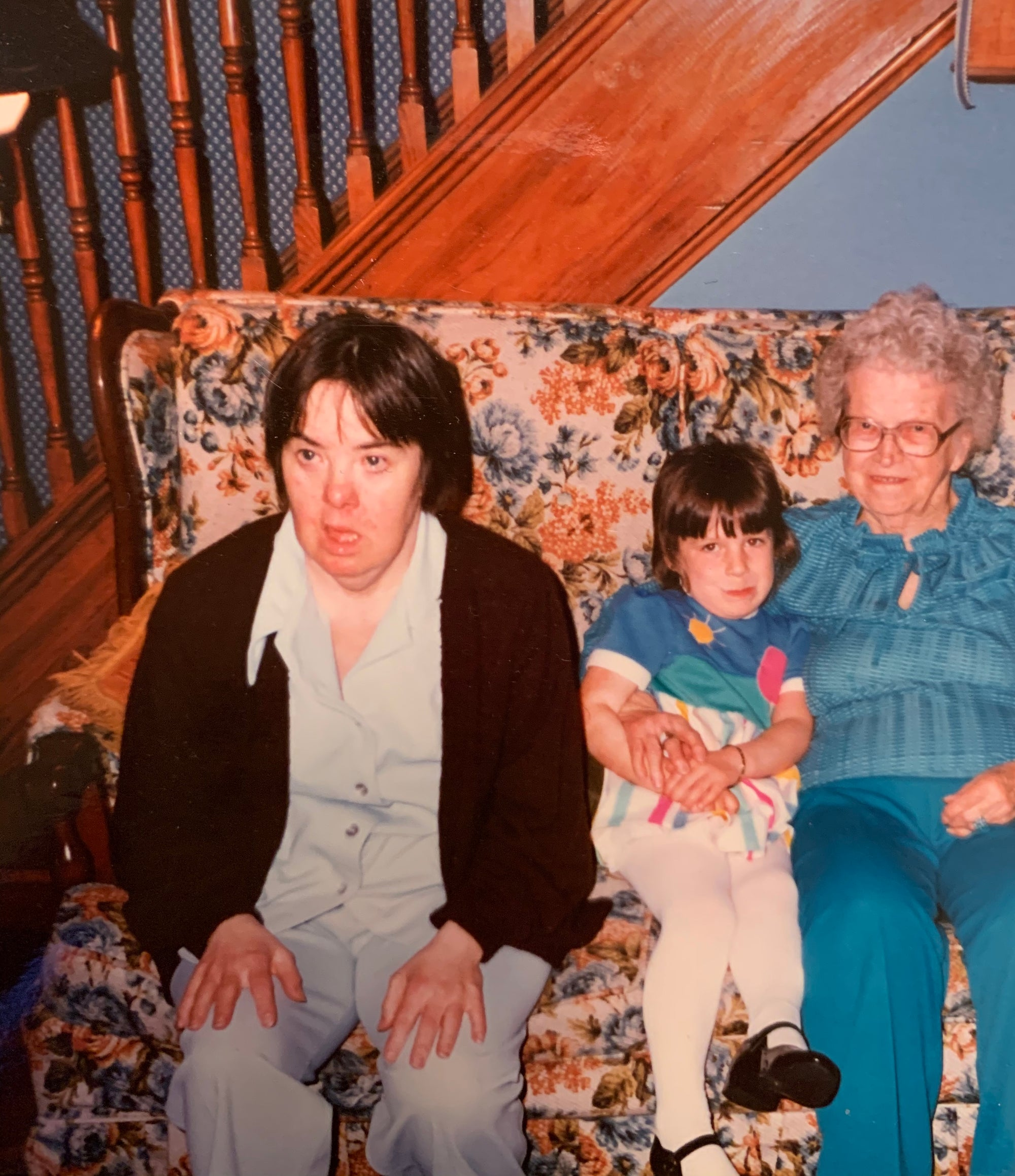 Me with my Aunt Sarah Jane (Down Syndrome) and my Great Grandmother Mimi Hannah