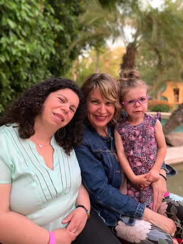 Morgan and Joanne Starkman, with Ava Connor