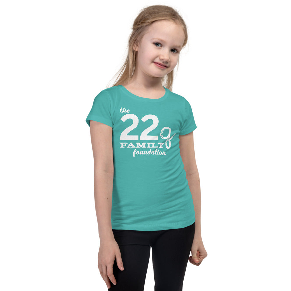 22q Family Foundation Girl's Slim + Fitted Logo Tee