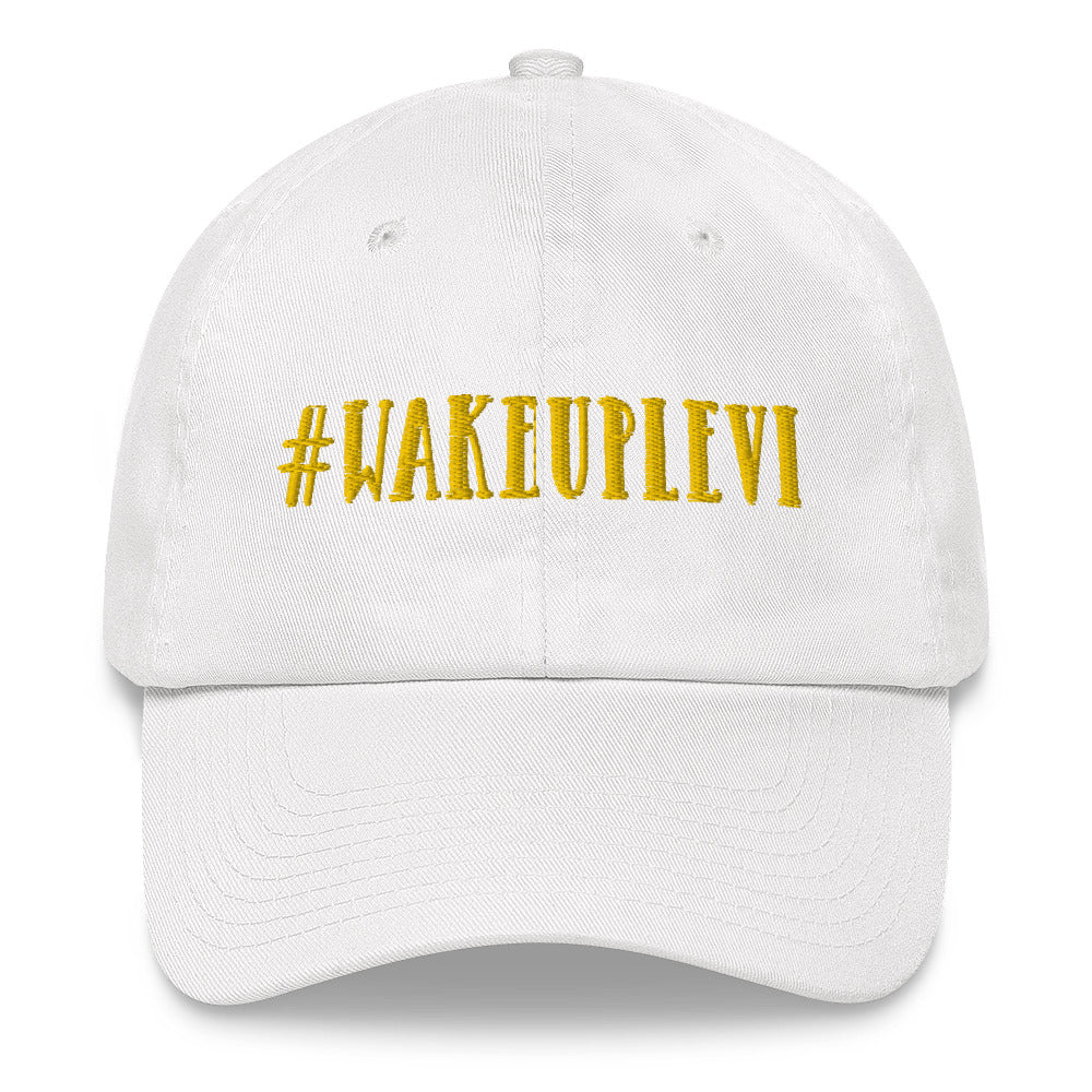 Light For Levi — #WakeUpLevi Dad Hat — Yellow
