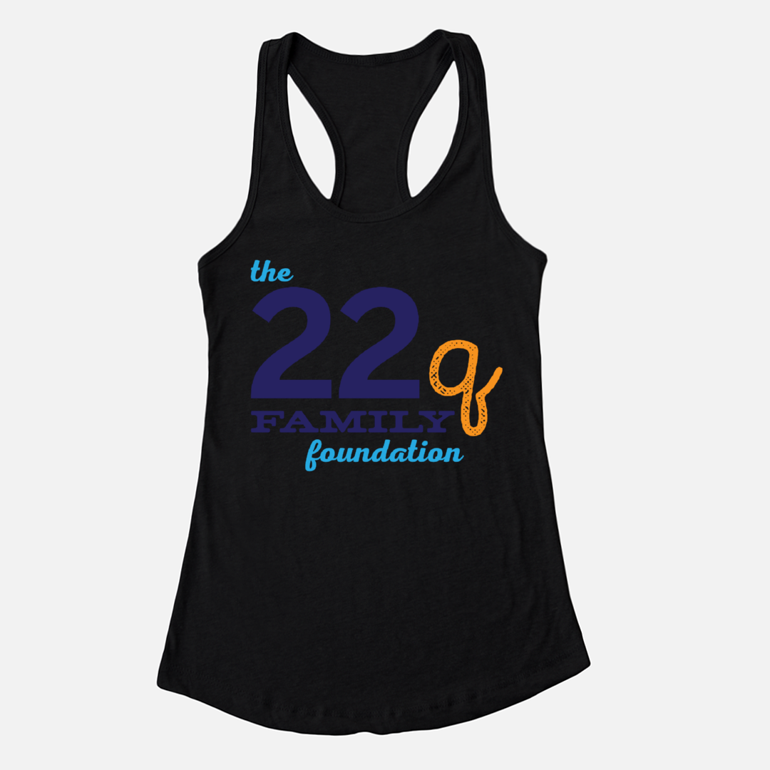 22q Family Foundation Racerback Logo Tank