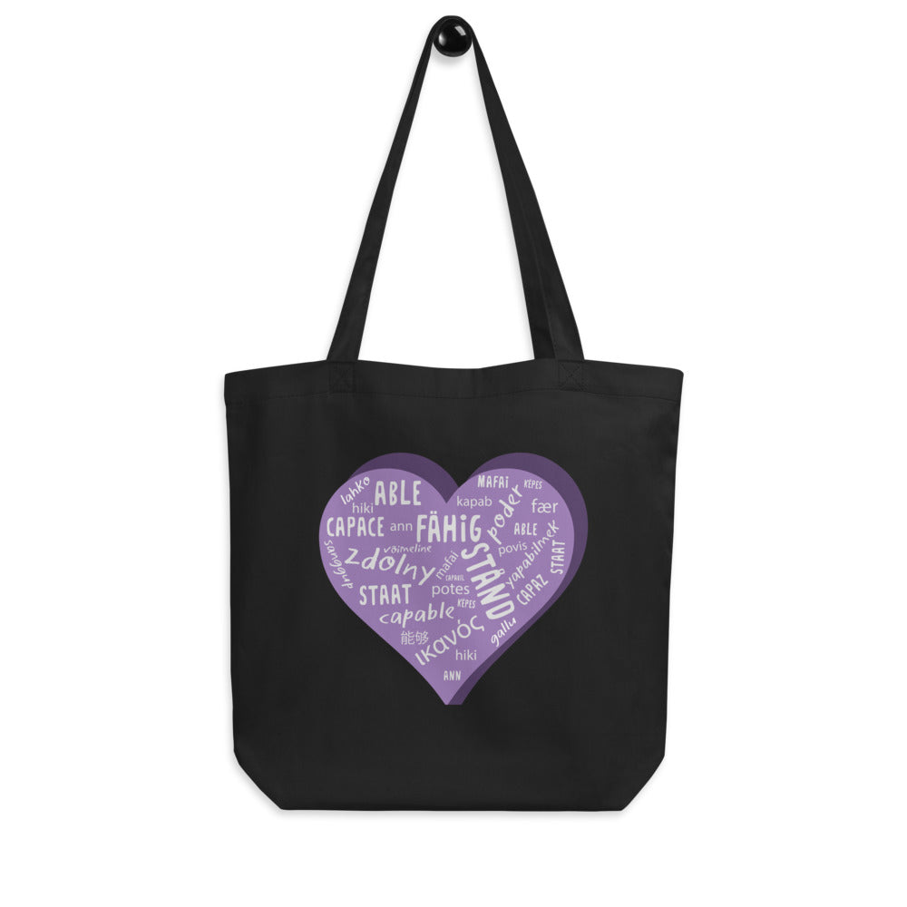 Able — Large Eco Tote Bag (Purple)