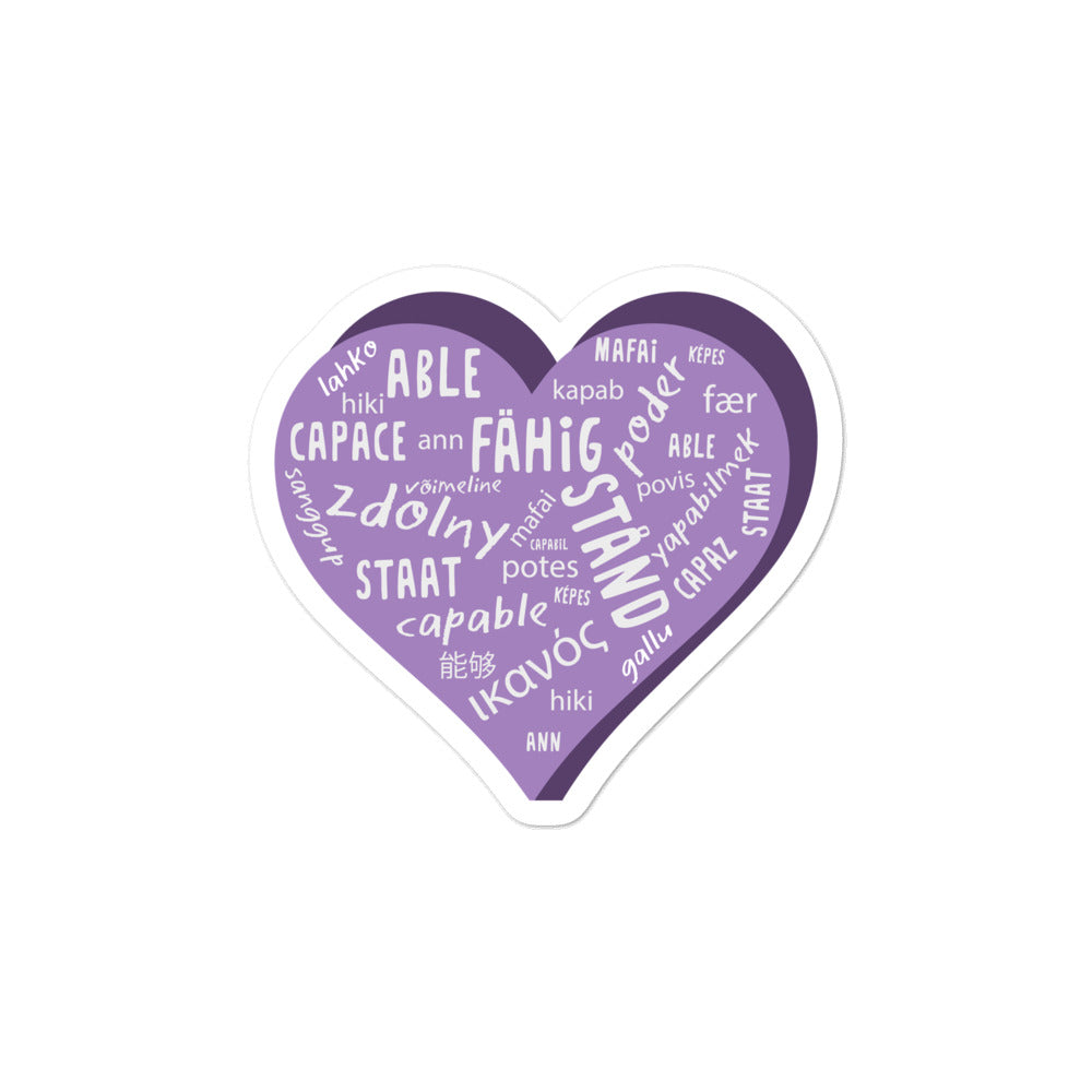 Able — Sticker (Purple)