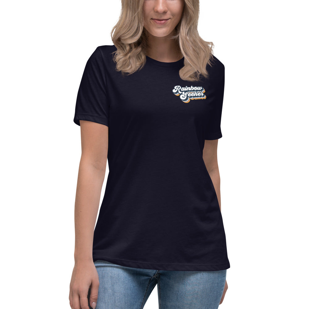 Rainbow Seeker — Women's Relaxed Pocket Tee
