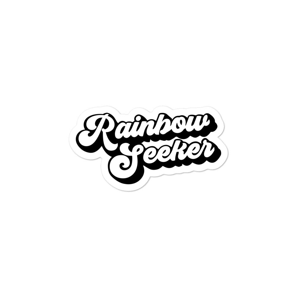 Rainbow Sticker — Sticker (Black/White)