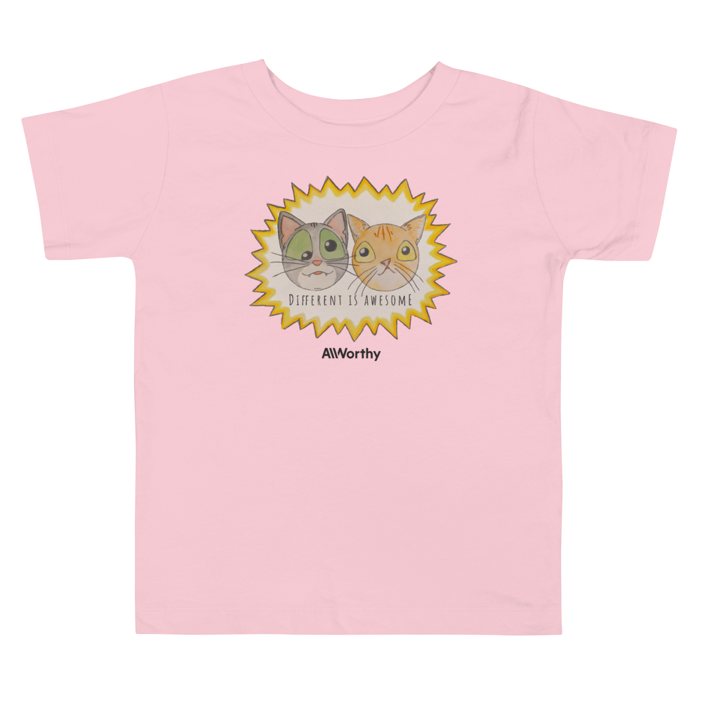 Different Is Awesome (Maya + Smush Collab) — Toddler Tee