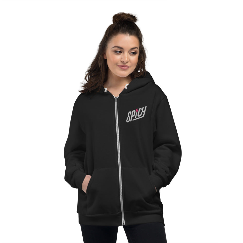 Spicy — Adult Unisex Zip Up Hoodie (Embroidered)