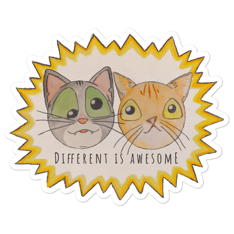 Different Is Awesome (Maya + Smush Collab) — Sticker