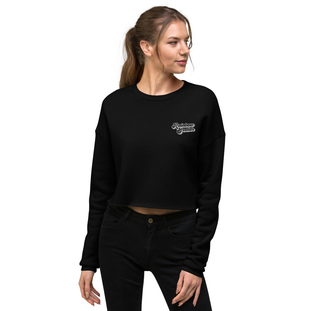 Rainbow Seeker — Crop Sweatshirt