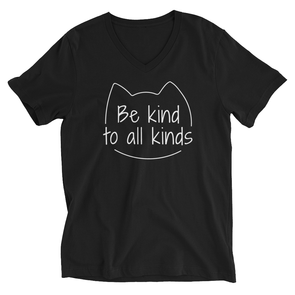 Be Kind To All Kinds — Adult Unisex V-Neck