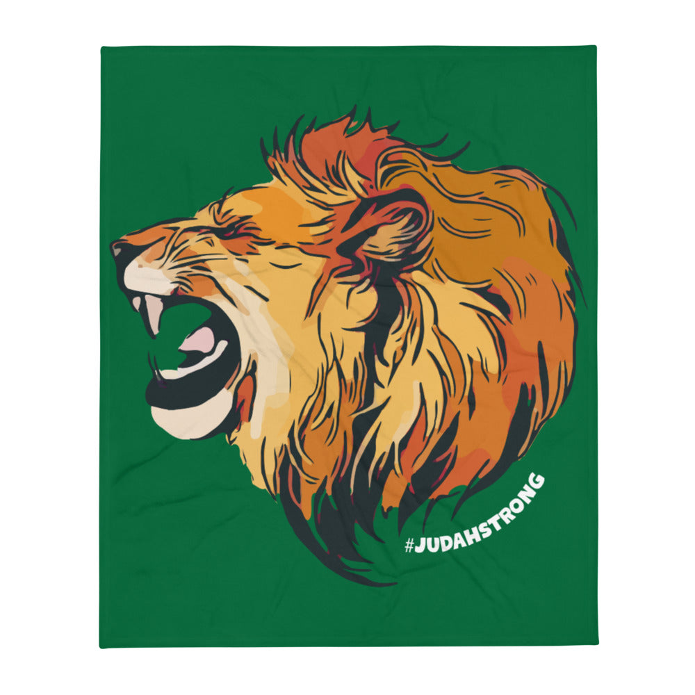 Judah Strong — Throw Blanket (Green)