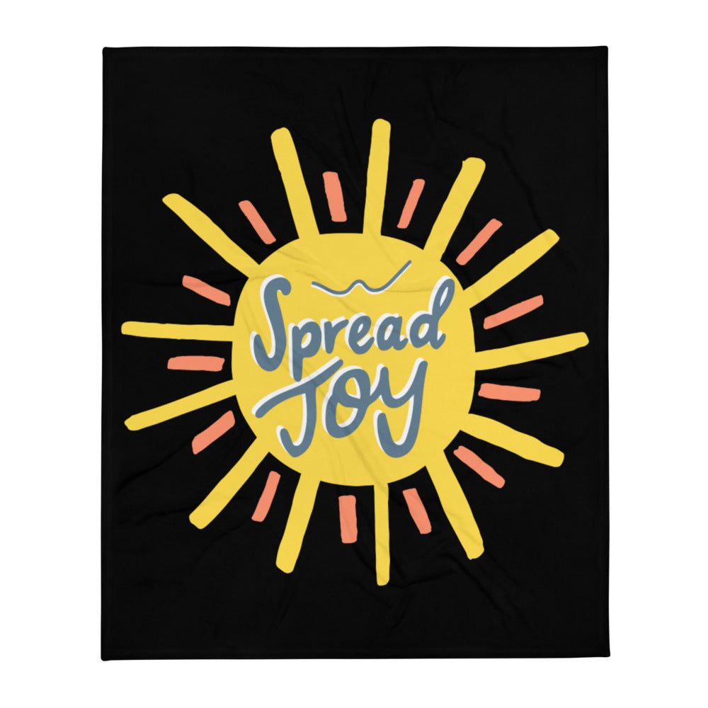 Spread Joy — Throw Blanket (Black)