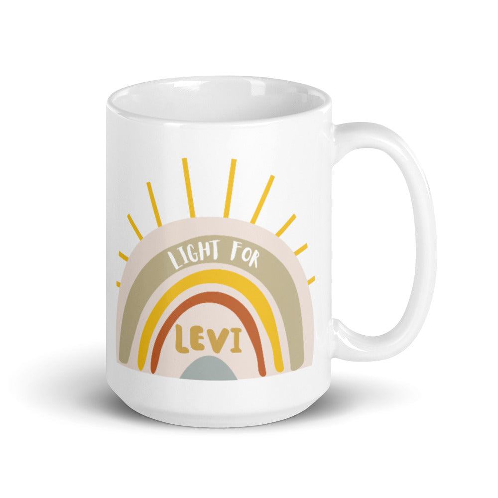 Light For Levi — 15oz Rainbow Mug