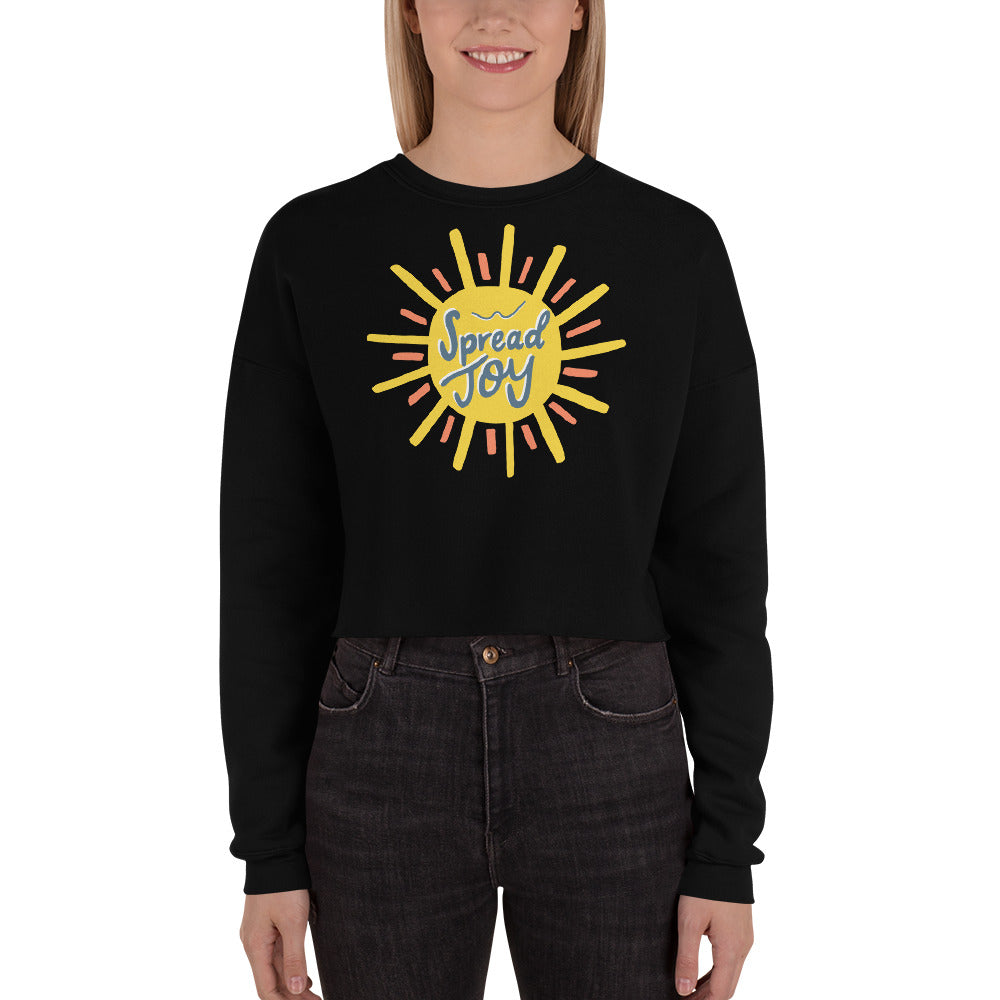 Spread Joy — Women's Crop Sweatshirt