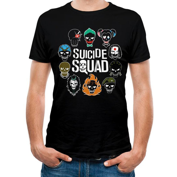 SUICIDE SQUAD | LOGO AND ICONS | UNISEX T-SHIRT