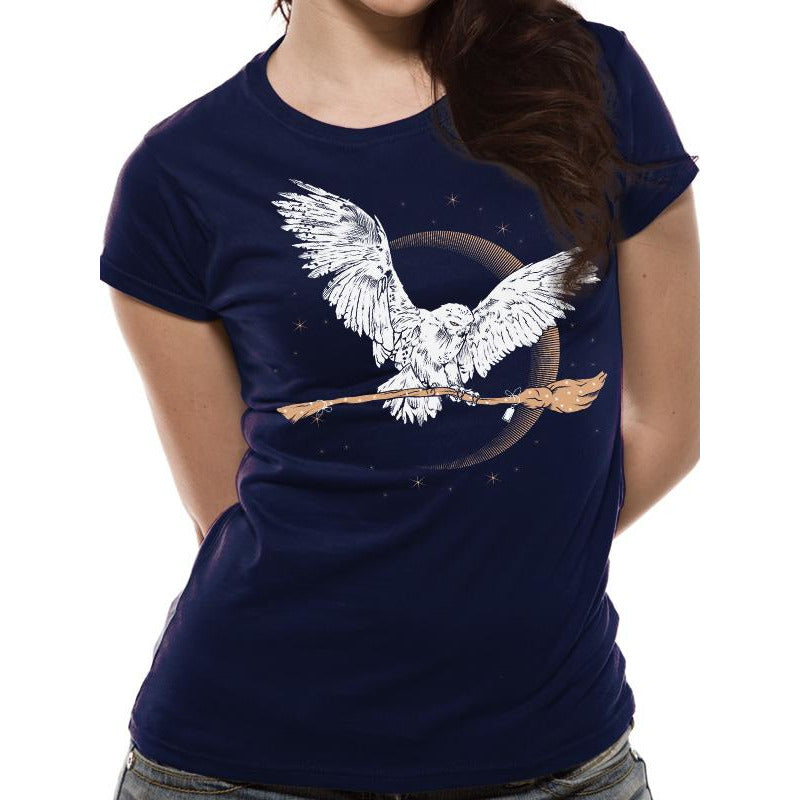 HARRY POTTER | HEDWIG BROOM | FITTED T-SHIRT