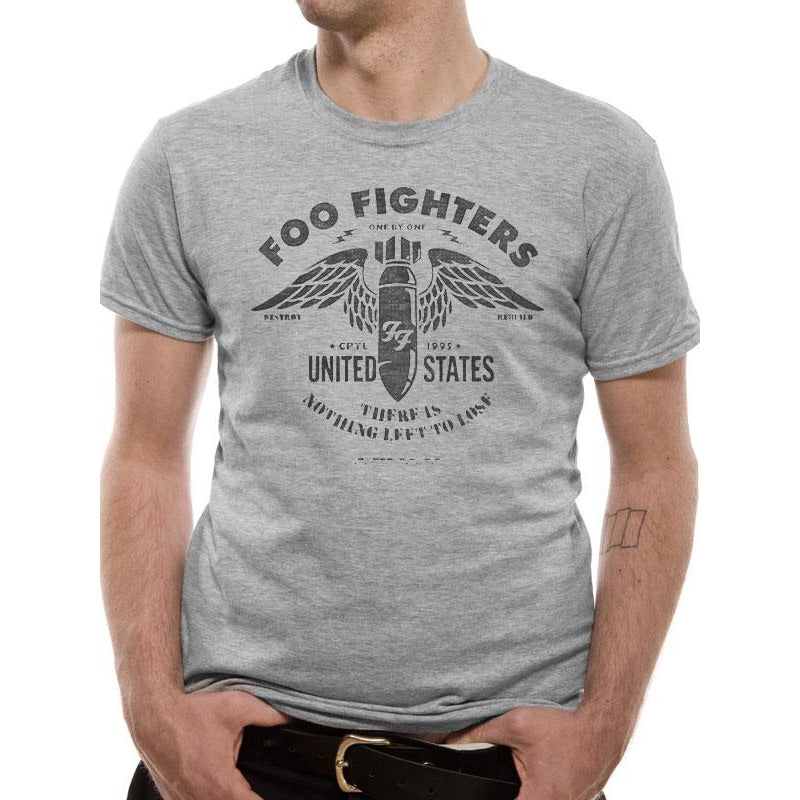 THE FOO FIGHTERS | STENCIL GREY | UNISEX T-SHIRT
