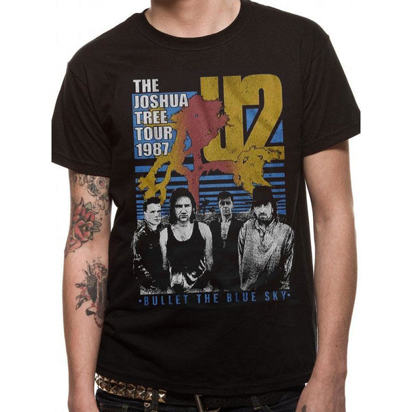 U2 | BLACK BULLET THE BLUE SKY | UNISEX T-SHIRT