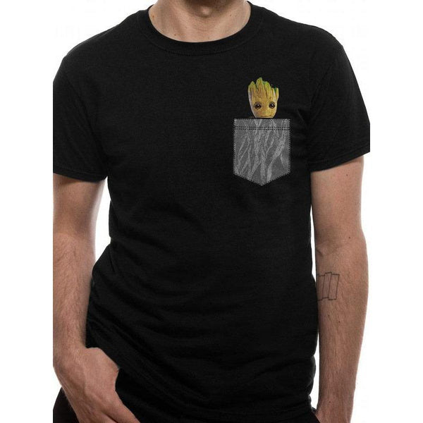 GUARDIANS OF THE GALAXY | COSY GROOT POCKET | UNISEX T-SHIRT