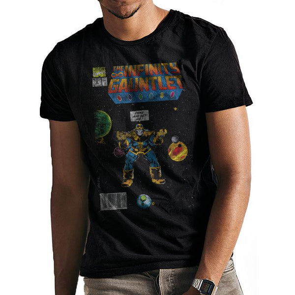 MARVEL | INFINITY GAUNTLET COVER THANOS | UNISEX T-SHIRT