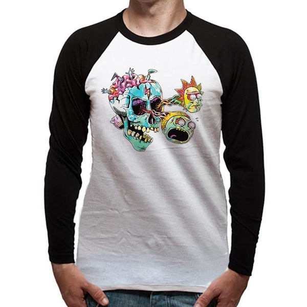 RICK AND MORTY | SKULL EYES | BASEBALL SHIRT