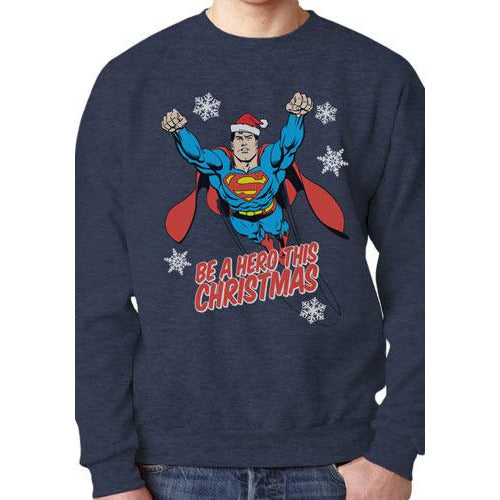 SUPERMAN | CHRISTMAS HERO | CREWNECK SWEATSHIRT