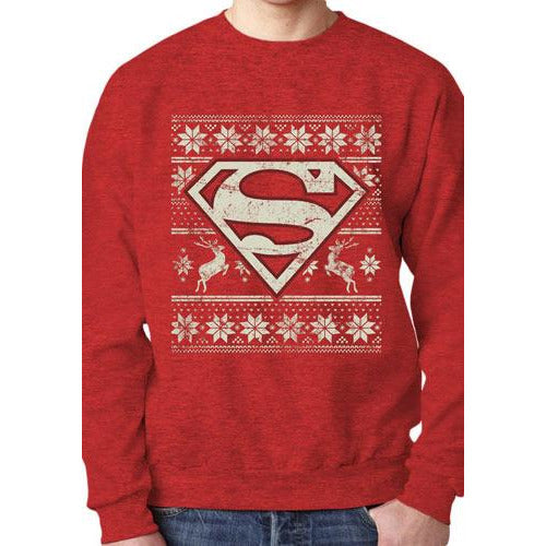 SUPERMAN | FAIR ISLE | CREWNECK SWEATSHIRT