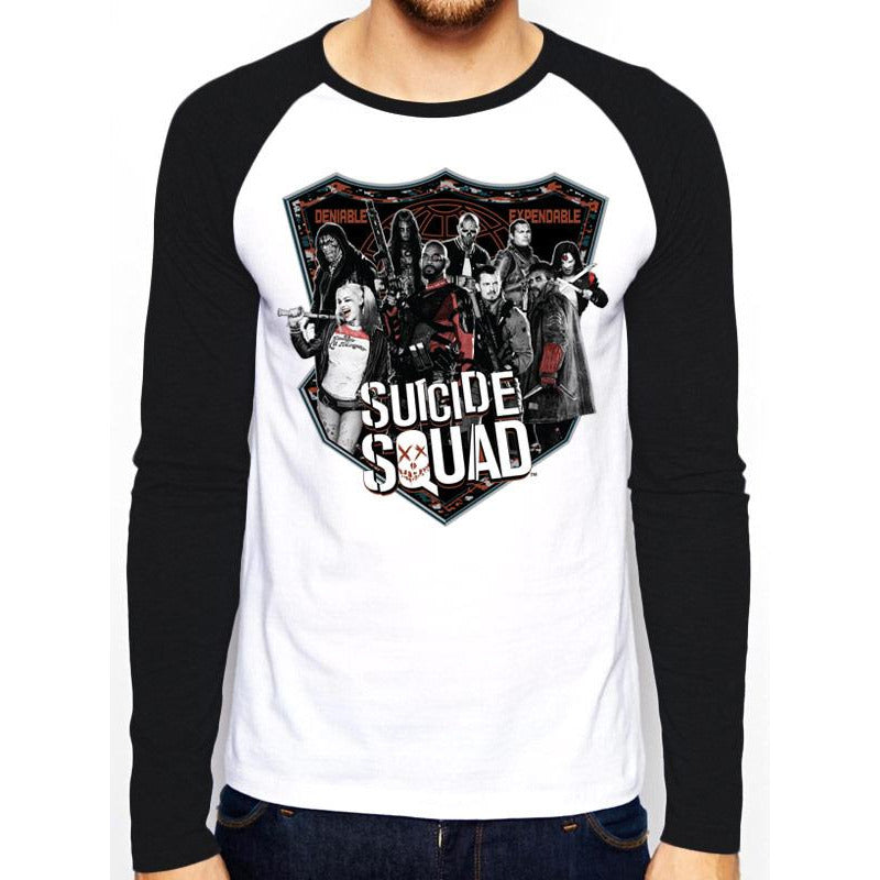 SUICIDE SQUAD | GROUP SHOT | LONG-SLEEVE BASEBALL SHIRT