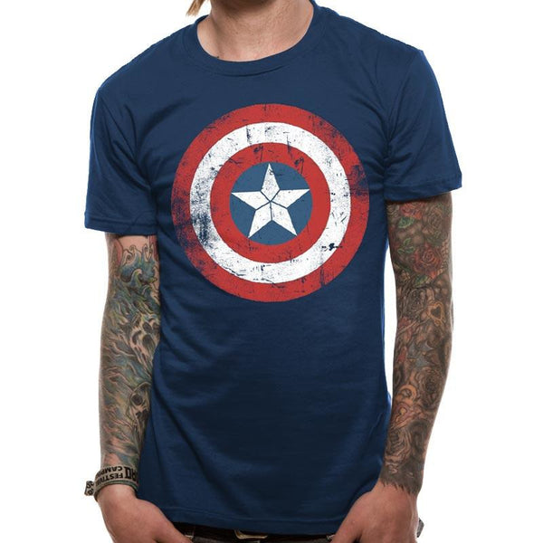 CAPTAIN AMERICA | SHIELD DISTRESSED | UNISEX T-SHIRT