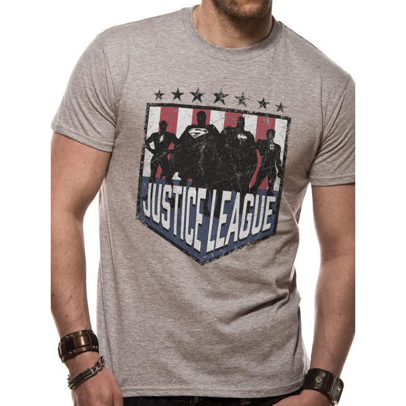 JUSTICE LEAGUE | SILHOUETTE SHIELD | UNISEX T-SHIRT