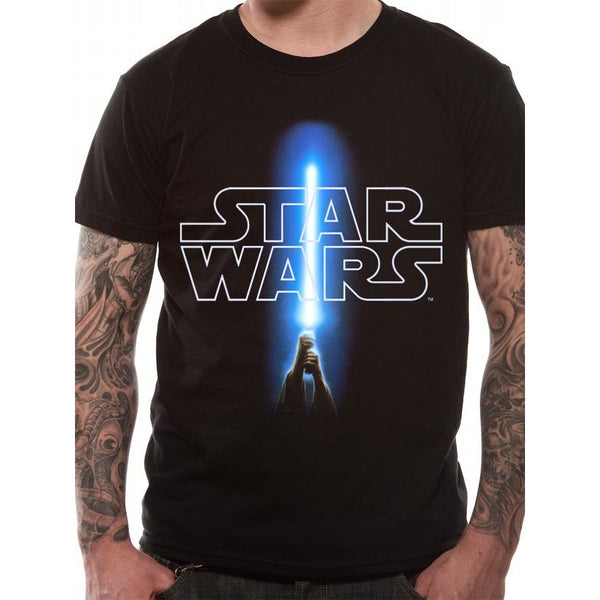 STAR WARS | LOGO AND SABER | UNISEX T-SHIRT