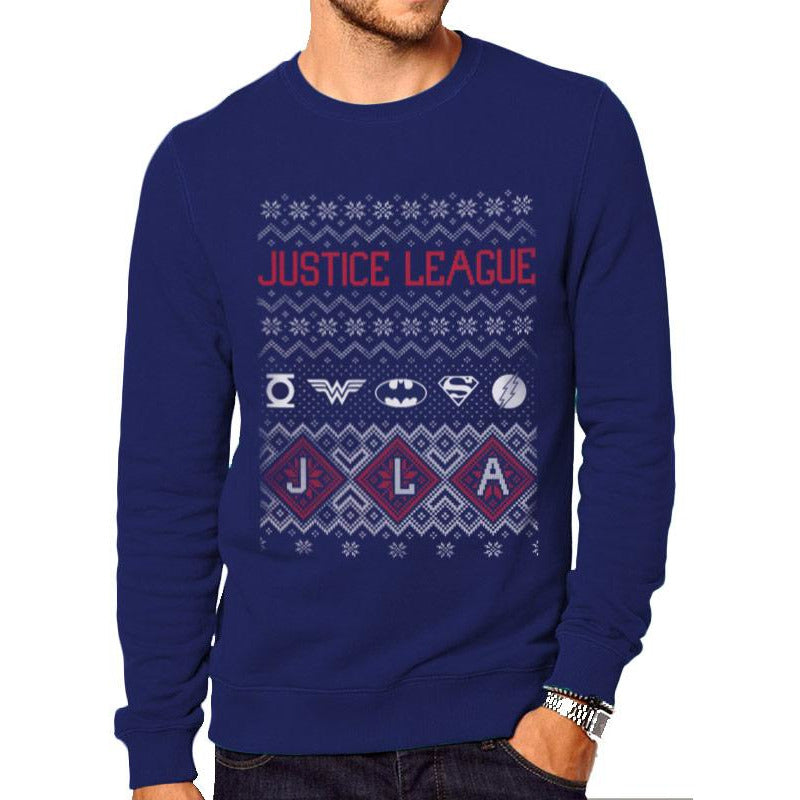 DC ORIGINALS | JUSTICE LEAGUE FAIR ISLE | CREWNECK SWEATSHIRT