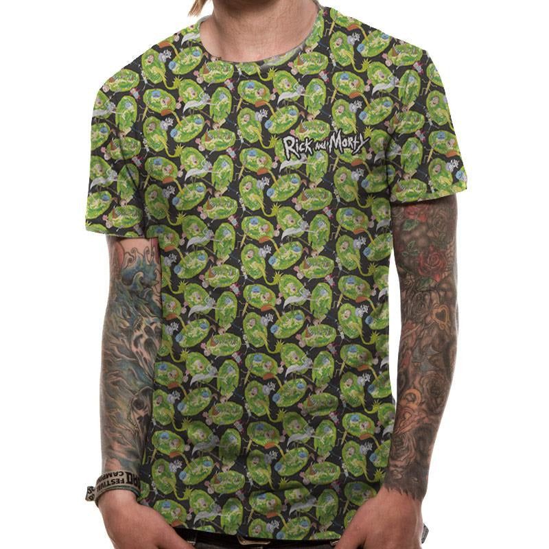 RICK AND MORTY | PATTERN REPEAT | UNISEX SUBLIMATED T-SHIRT