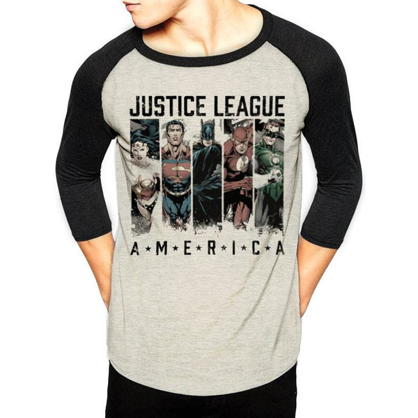 JUSTICE LEAGUE | AMERICA | 3/4 BASEBALL SHIRT