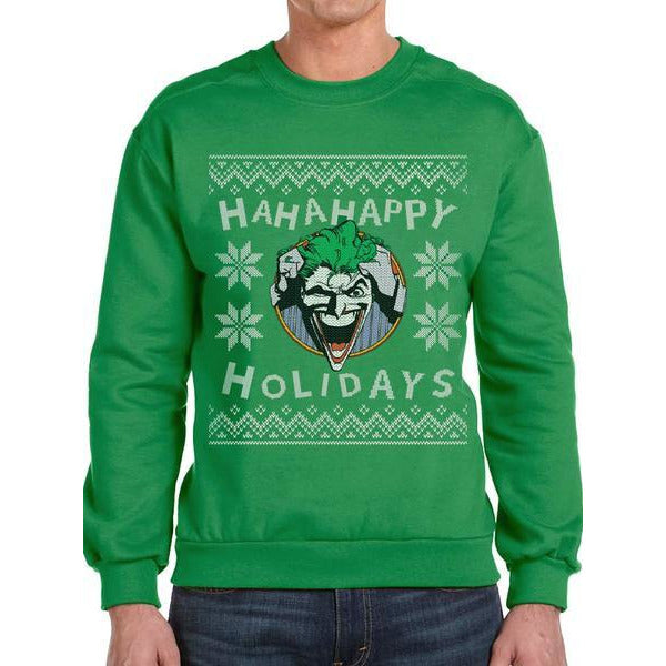 BATMAN | HA HA HAPPY HOLIDAYS | CREWNECK SWEATSHIRT