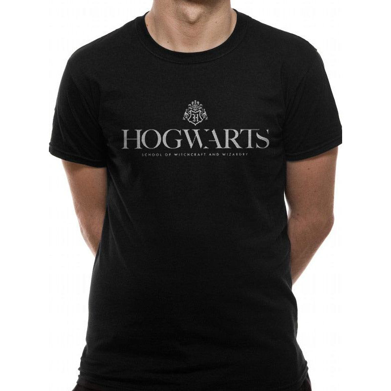 HARRY POTTER | HOGWARTS PRIDE WHITE LOGO | UNISEX T-SHIRT