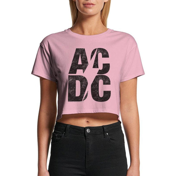 AC/DC | STACKED LOGO | CROP TOP