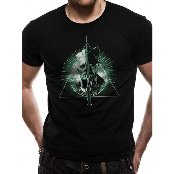 CRIMES OF GRINDELWALD | DEATHLY HALLOWS SPLIT | UNISEX T-SHIRT