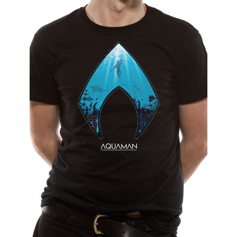 AQUAMAN MOVIE | LOGO AND SYMBOL | UNISEX T-SHIRT