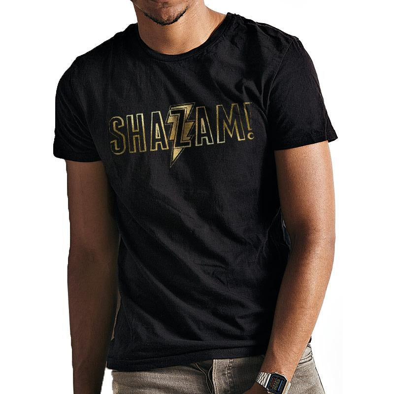 SHAZAM MOVIE | GOLD FOIL LOGO | UNISEX T-SHIRT