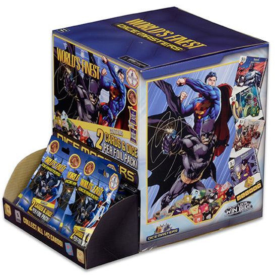 DC COMICS | WORLD'S FINEST DICE MASTERS COUNTERTOP DISPLAY | BOARD GAME