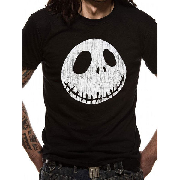 NIGHTMARE BEFORE CHRISTMAS | JACK CRACKED FACE | UNISEX T-SHIRT
